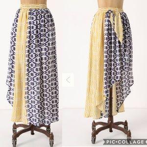 Anthropologie Funktional 100% Silk  Skirt